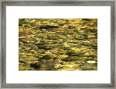 Glacier Sparkling Waters Framed Print by Adam Jewell