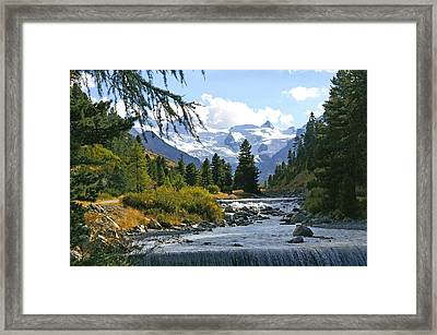 Glacier Stream Framed Print by Tom Reynen
