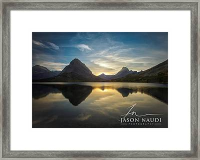 Framed Print featuring the photograph Glacier Sunset by Jason Naudi