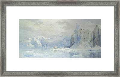Glacier Framed Print by Tristram Ellis