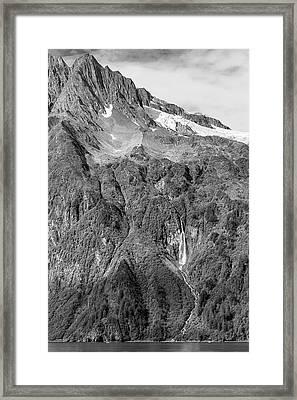Glacier Waterfall Framed Print