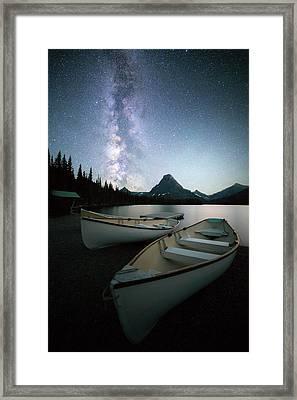 Glacier's Midnight Dream // Two Medicine Lake, Glacier National Park  Framed Print