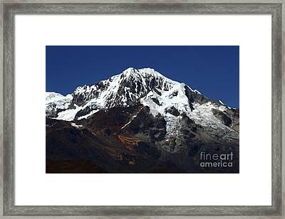 Glaciers Of Mt Illampu Bolivia Framed Print by James Brunker