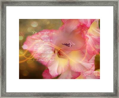 Glad To Be Humble Framed Print