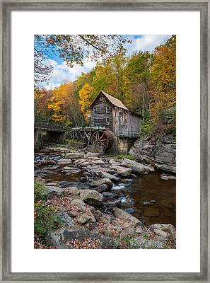 Glade Creek Grist Mill Babcock State Park Framed Print by Rick Dunnuck
