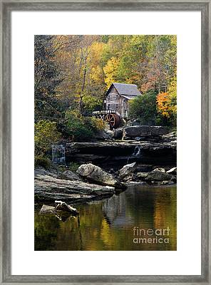 Framed Print featuring the photograph Glade Creek Grist Mill - D009975 by Daniel Dempster