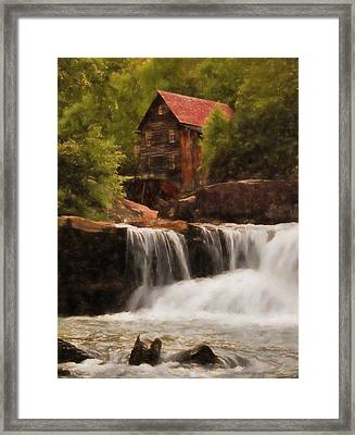 Glade Creek Grist Mill Framed Print by Dan Sproul