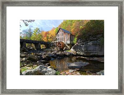 Framed Print featuring the photograph Glade Creek Grist Mill by Steve Stuller