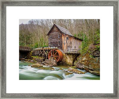 Framed Print featuring the photograph Glade Creek Grist Mill by Steve Zimic