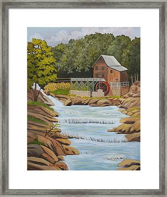 Glade Creek Grist Mill West Virginia Sold Framed Print by Ruth  Housley