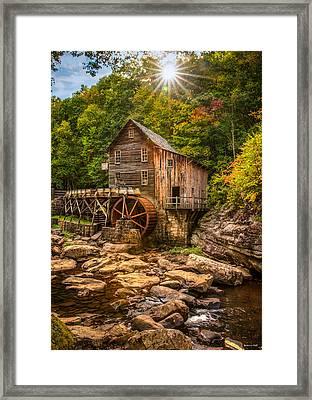 Glade Creek Mill Fall Framed Print
