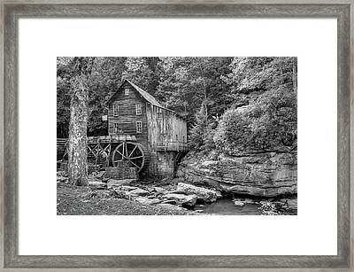 Glade Creek Mill In Black And White - Beckley West Virginia Framed Print by Gregory Ballos