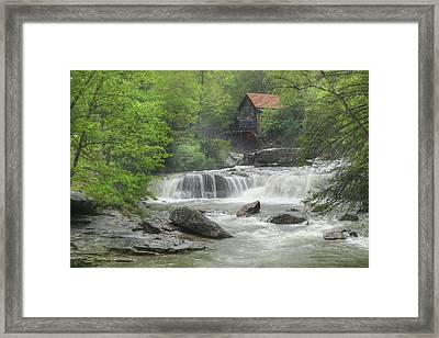 Glade Creek Waterfalls Framed Print