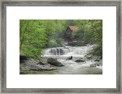 Glade Creek Waterfalls Framed Print by Lori Deiter