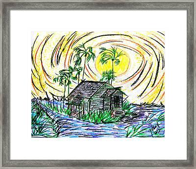 Glades House Framed Print