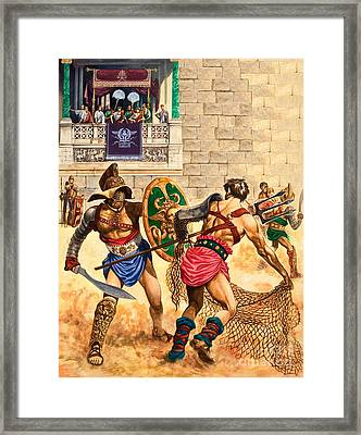 Gladiators Framed Print