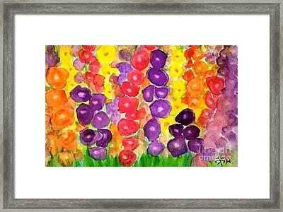 Gladiolus Flower Garden Framed Print