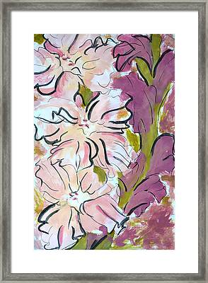 Gladiolus  Framed Print by Robin Lee