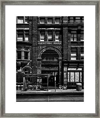 Framed Print featuring the photograph Gladstone Hotel Toronto Canada No 1 by Brian Carson