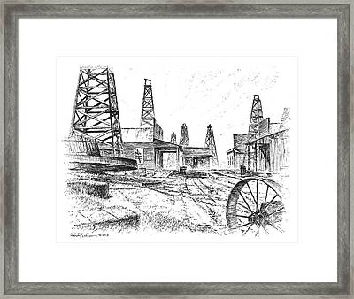Gladys City Framed Print