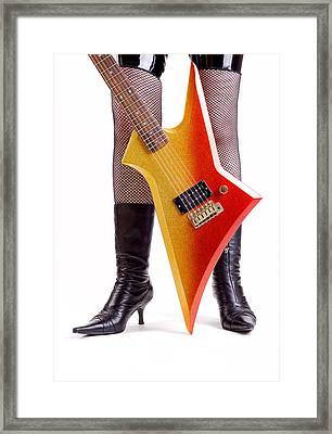 Glam Rock Guitar Framed Print