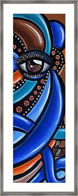 Glamorous - Abstract Painting - Eye Art - Ai P. Nilson Framed Print