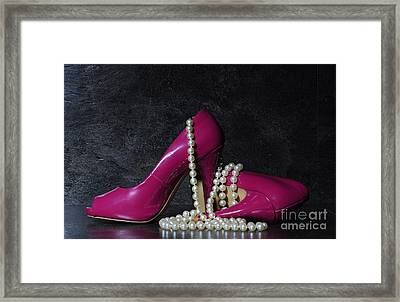 Glamorous Pair Of Ladies Pink High Heels Framed Print by Milleflore Images