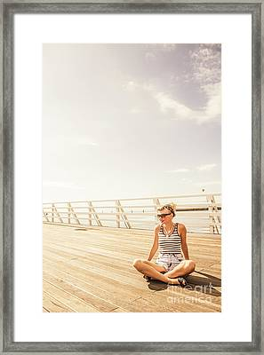 Glamorous Summer Woman Framed Print by Jorgo Photography - Wall Art Gallery