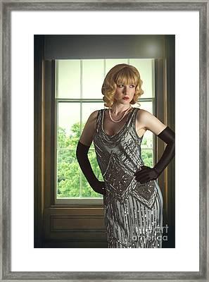 Glamorous Young Woman Framed Print by Amanda Elwell