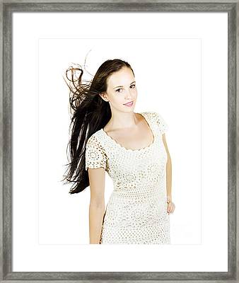 Glamour Fashion Model Framed Print by Jorgo Photography - Wall Art Gallery