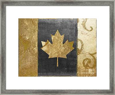Glamour Gold Canada Flag Framed Print by Mindy Sommers