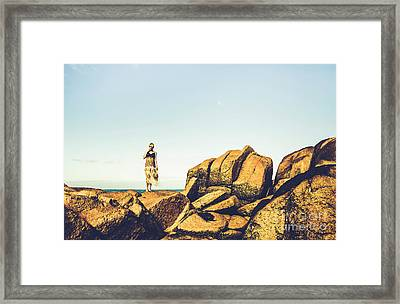 Glamour In Untouched Paradise Framed Print