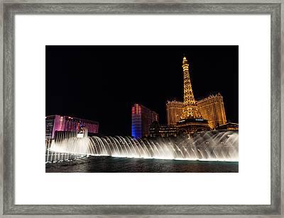 Glamour Music And Shine - Viva Las Vegas Framed Print