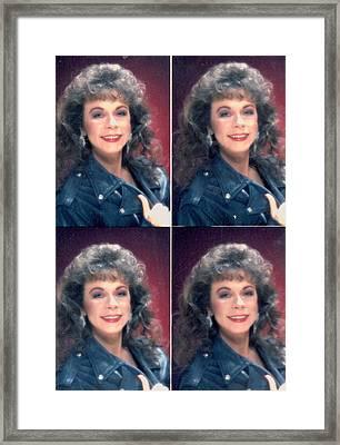 Glamour Shot Times Four Framed Print by Anne-Elizabeth Whiteway