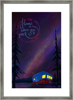Glamping Under The Stars Framed Print by Sassan Filsoof