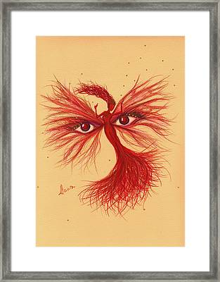 Framed Print featuring the drawing Glare by Dawn Fairies