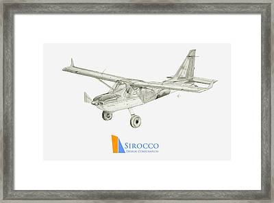 Glasair Sportsman Tc With Sirocco Design Corp. Winglets Logo 3 Framed Print by Nicholas Linehan