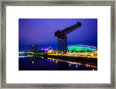 Glasgow At Night Framed Print by Ian Good