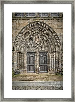 Glasgow Cathedral Doors Framed Print