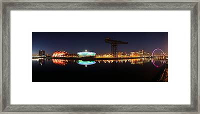Glasgow Clyde Panorama Framed Print