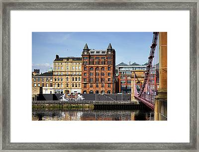 Framed Print featuring the photograph Glasgow by Jeremy Lavender Photography