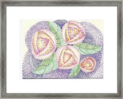 Glasgow Rose Framed Print by Leslie Genser
