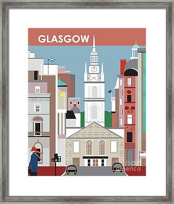 Glasgow Scotland Vertical Scene Framed Print by Karen Young
