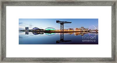 Glasgow Skyline Panorama Framed Print by John Farnan