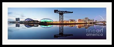 Glasgow Cityscape Framed Prints