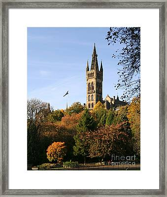 Glasgow University Framed Print