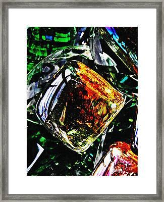 Glass Abstract 160 Framed Print by Sarah Loft