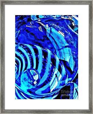 Glass Abstract 211 Framed Print by Sarah Loft