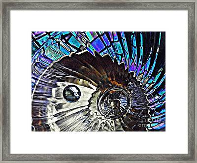 Glass Abstract 372 Framed Print