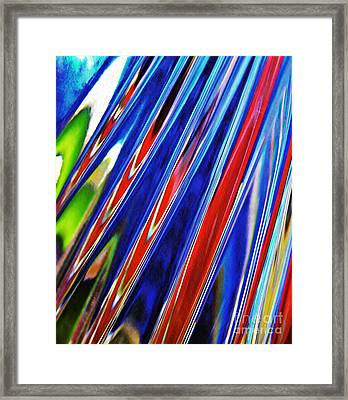 Glass Abstract 785 Framed Print by Sarah Loft